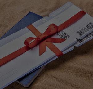 Un cheque cadeau pour un billet d avion